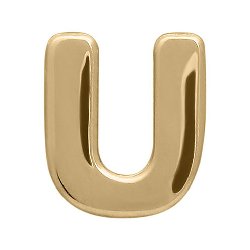 "Teeny Tiny® 10K Yellow Gold Initial ""U"" Single Stud Earring"