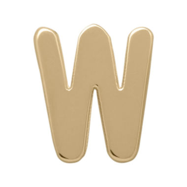 "jcpenney.com | Teeny Tiny® 10K Yellow Gold Initial ""W"" Single Stud Earring"