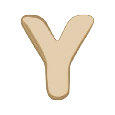 "jcpenney.com | Teeny Tiny® 10K Yellow Gold Initial ""Y"" Single Stud Earring"