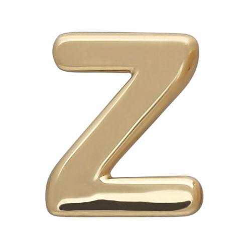 "Teeny Tiny® 10K Yellow Gold Initial ""Z"" Single Stud Earring"