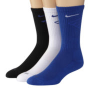 Nike® 3–pk. Dri–FIT Fly Crew Socks–Big & Tall