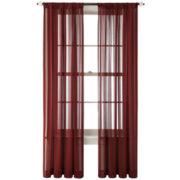 Royal Velvet® Cherise Rod-Pocket Sheer Panel