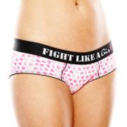 Flirtitude® Fight Like a Girl Cotton-Blend Boykini Panties