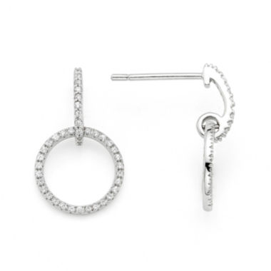 jcpenney.com | 1/4 CT. T.W. Diamond 10K White Gold Openwork Circle Earrings