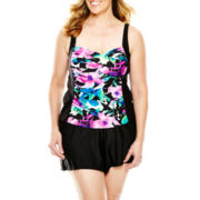 Delta Burke® Floral Print Tankini Swim Top or Solid Shorts - Plus
