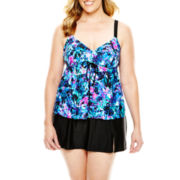 Delta Burke® Flyaway Tankini Swim Top or Slit Skirted Bottoms - Plus