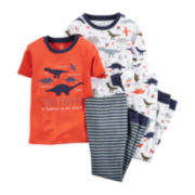 Carter's® 4-pc. Dinosaur Pajamas - Toddler Boys 2t-5t