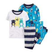 Carter's® 4-pc. Monster Pajamas - Toddler Boys 2t-5t
