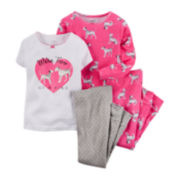 Carter's® 4-pc. Dalmatian Pajama Set - Toddler Girls 2t-5t