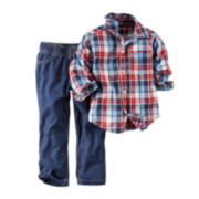 Carter's® Plaid Shirt and Pants Set - Baby Boys newborn-24m