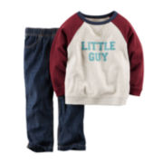 Carter's® French Terry Shirt and Jeans - Baby Boys newborn-24m