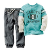 Carter's® Long-Sleeve Shirt and Pants - Baby Boys newborn-24m