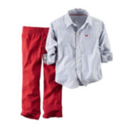 Carter's® Button-Front Shirt and Pants - Baby Boys newborn-24m