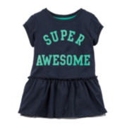 Carter's® Super Awesome Peplum Top - Baby Girls newborn-24m