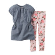 Carter's® Chambray Tunic and Leggings - Toddler Girls 2t-5t