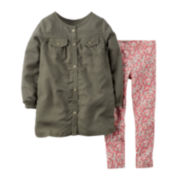Carter's® Olive Top and Leggings - Toddler Girls 2t-5t