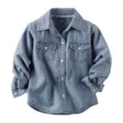 Carter's® Chambray Button-Front Top - Toddler Girls 2t-5t