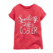 Carter's® Smile Graphic Tee - Toddler Girls 2t-5t