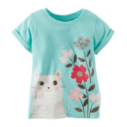 Carter's® Kitty Graphic Tee - Toddler Girls 2t-5t