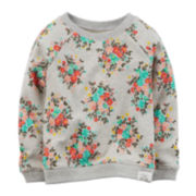 Carter's® Floral French Terry Sweatshirt - Toddler Girls 2t-5t