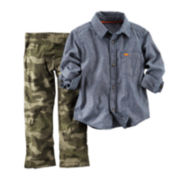 Carter's® Chambray Shirt and Camo Pants - Toddler Boys 2t-5t