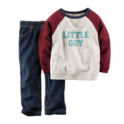 Carter's® French Terry Shirt and Jeans - Toddler Boys 2t-5t