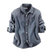 Carter's® Chambray Button-Front Top - Toddler Boys 2t-5t