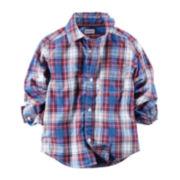 Carter's® Button-Front Plaid Shirt - Toddler Boys 2t-5t
