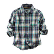 Carter's® Button-Front Plaid Shirt - Toddler Boys 2t-5t