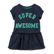 Carter's® Super Awesome Peplum Top - Preschool Girls 4-6x
