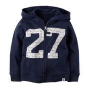 Carter's® Full-Zip French Terry Hoodie - Preschool Girls 4-6x