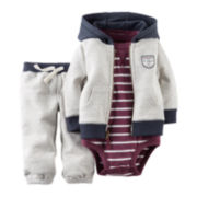 Carter's® Bodysuit, Hoodie and Pants - Baby Boys newborn-24m