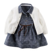 Carter's® Chambray Dress and Cardigan - Baby Girls newborn-24m