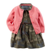 Carter's® Camo Dress and Cardigan - Baby Girls newborn-24m