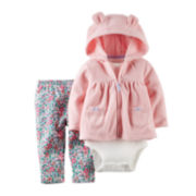 Carter's® Hoodie, Bodysuit and Pants - Baby Girls newborn-24m