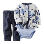 Carter's® Cardigan, Bodysuit and Jeans - Baby Girls newborn-24m