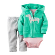 Carter's® Hoodie, Bodysuit and Pants - Baby Girls newborn-24m