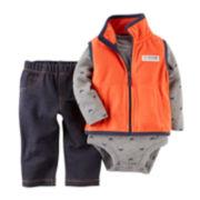 Carter's® Vest, Bodysuit and Jeans - Baby Boys newborn-24m