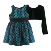 Marmellata Polka Dot Dress and Cardigan - Girls 7-12