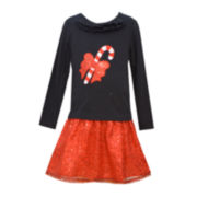 Bonnie Jean® Candy Cane Dress - Girls 7-12