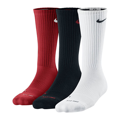 Nike® 3-pk. Dri-FIT Crew Gym Socks - Boys