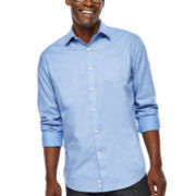 Claiborne® Long-Sleeve Dobby Woven Shirt