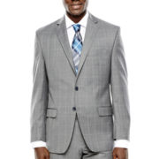 Collection by Michael Strahan Gray Windowpane Suit Jacket - Classic Fit