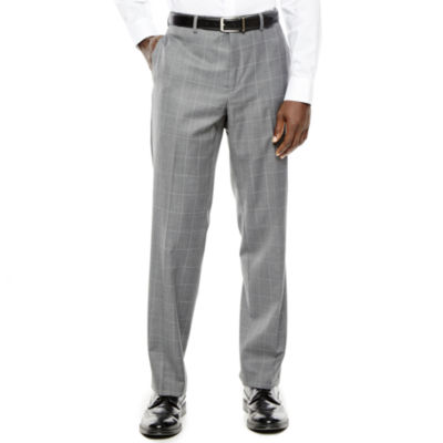 Collection by Michael Strahan Gray Windowpane Suit Pants - Classic Fit