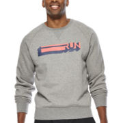 Xersion™ Graphic Fleece Crewneck Sweatshirt