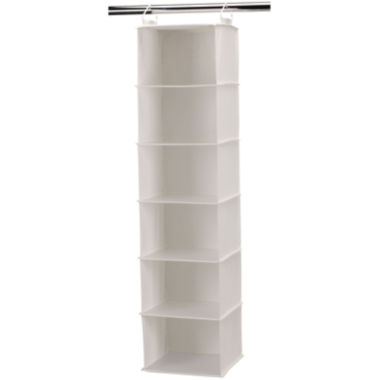 jcpenney.com | Household Essentials® Canvas 6-Shelf Hanging Closet Organizer