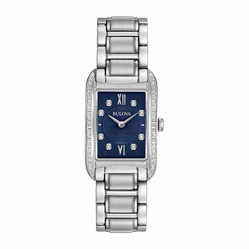 Bulova Womens Silver Tone Bracelet Watch-96r211