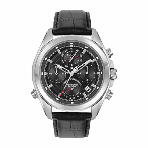 Bulova Mens Black Strap Watch-96b259