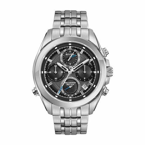 Bulova Mens Silver Tone Bracelet Watch-96b260