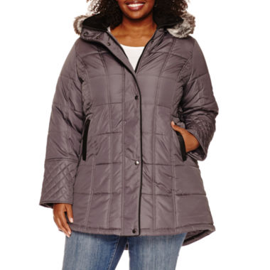 jcpenney.com | KC Collections Sidetab Puffer Jacket with Quilt Details-Plus